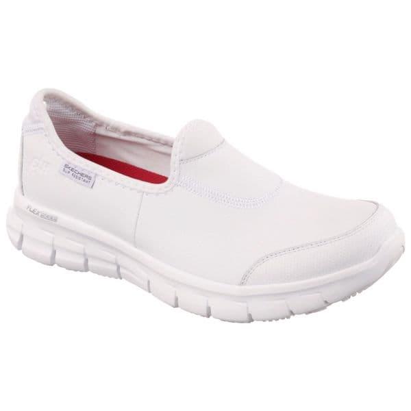 Skechers Sure Track Ladies Occupational Footwear White